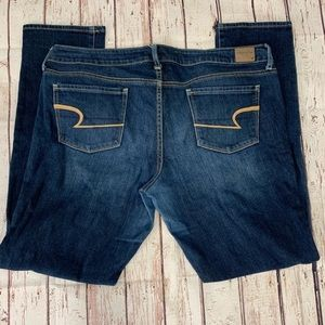 American Eagle Medium Wash Skinny Jeans 18L